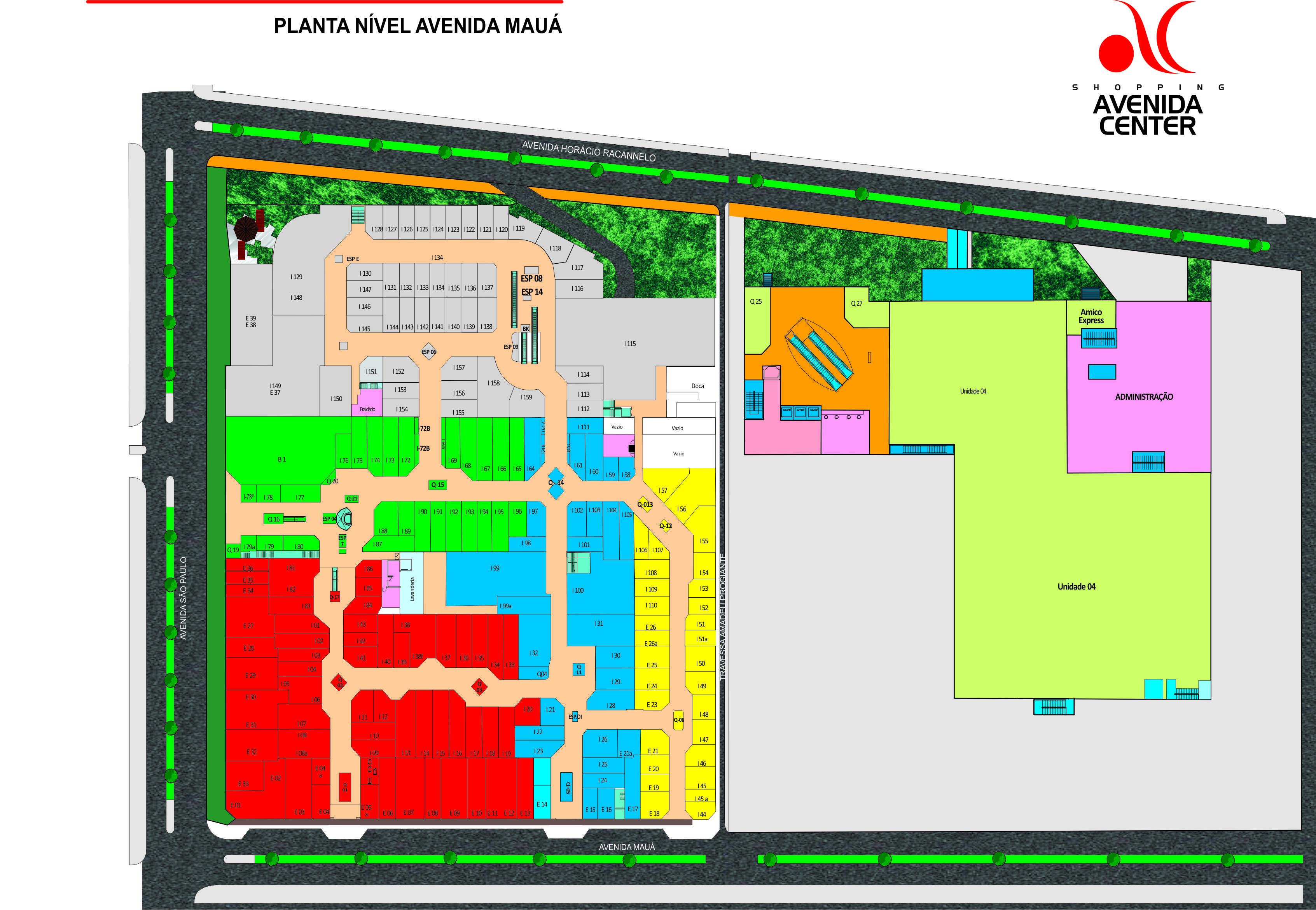 Mapa do shopping - localização, OSMOZE