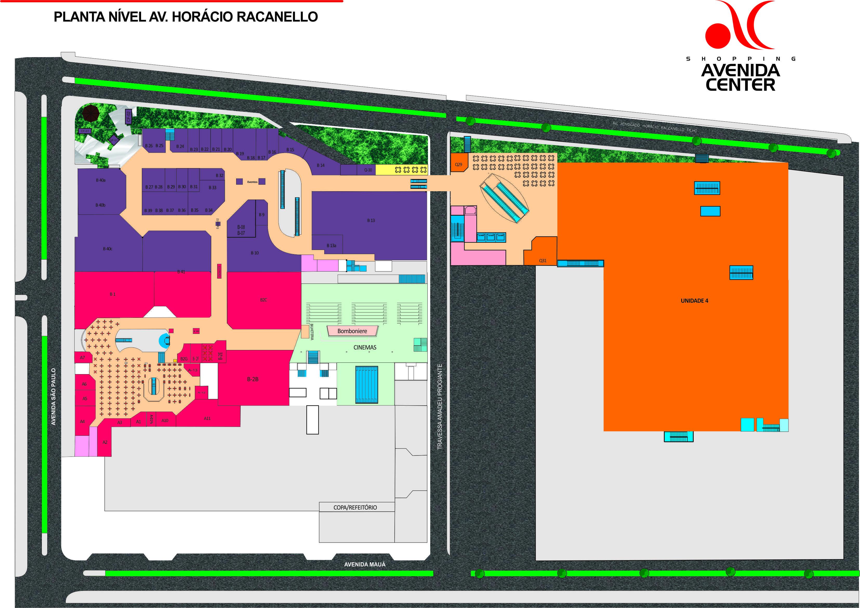 Mapa do shopping - localização, CHIQUINHO AVENIDA CENTER