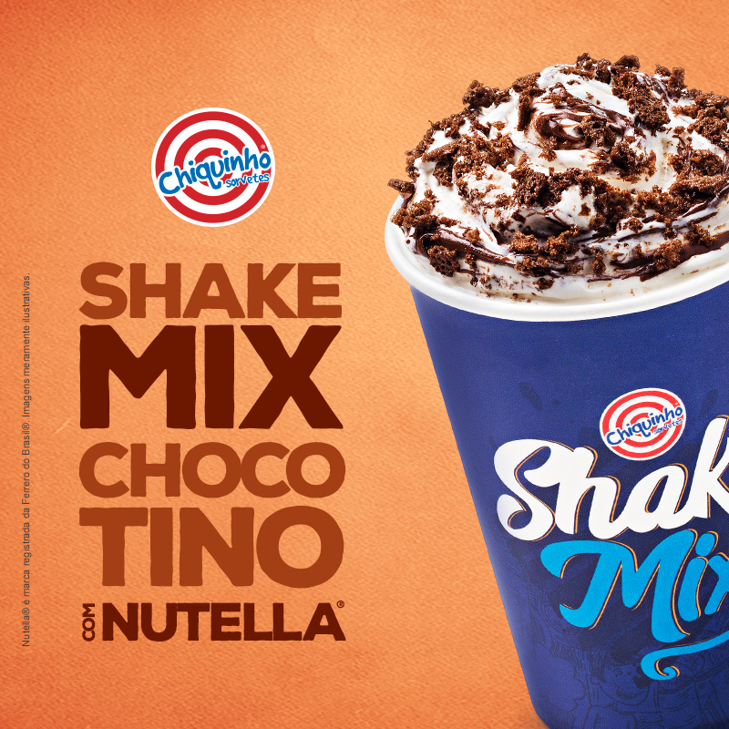 ShakeMix Chocotino com Nutella