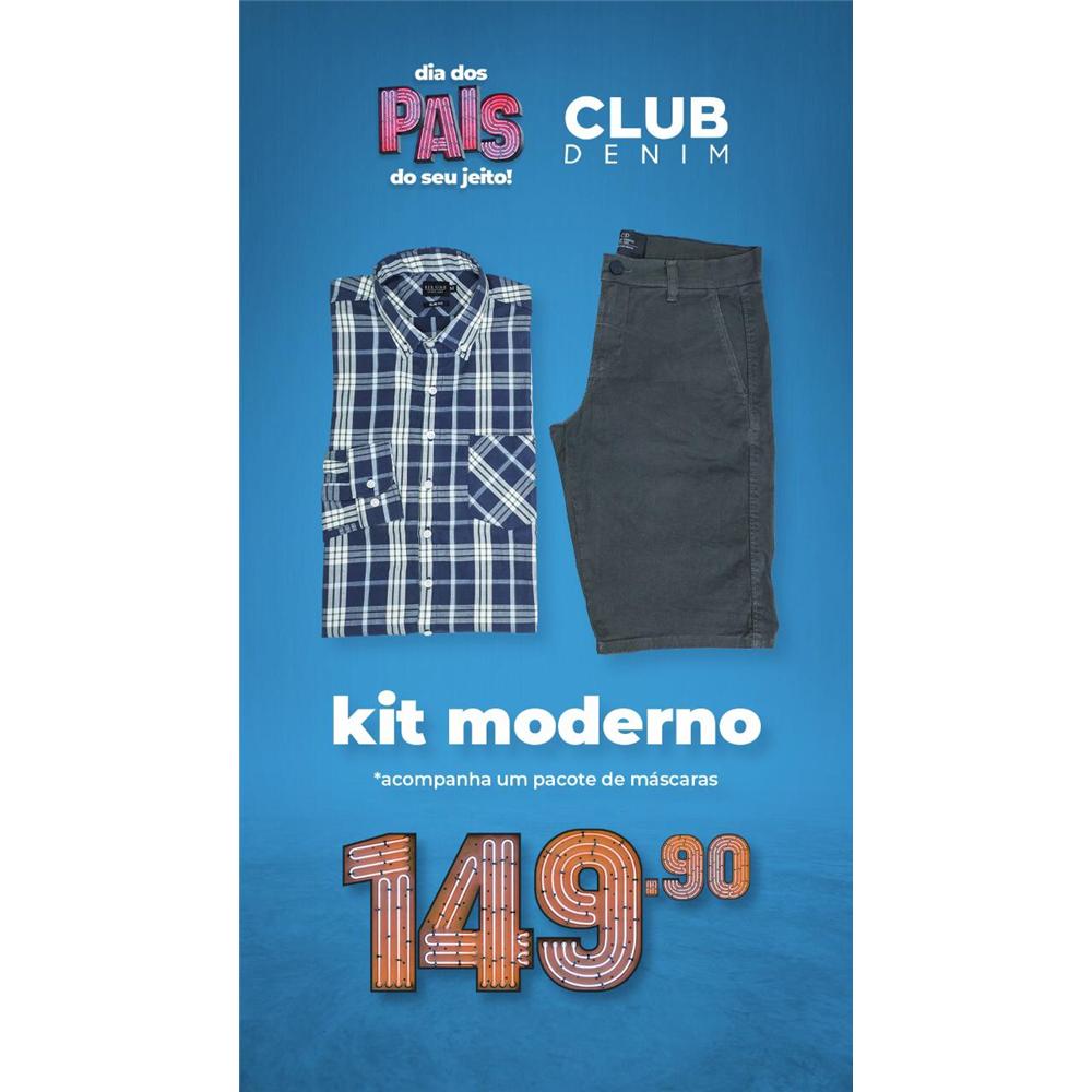 PROMO DIA DOS PAIS: Kit camisa + bermuda